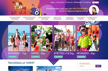 Moonlight Travel Kids Club - Website by VELA digital