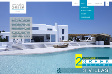 Exclusive Greek Villas by Website - VELA Digital
