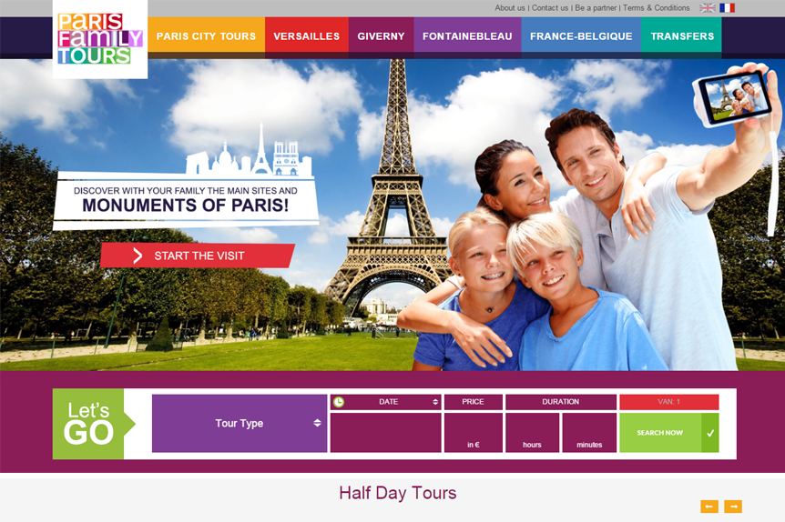 website paris logo by VELA digital