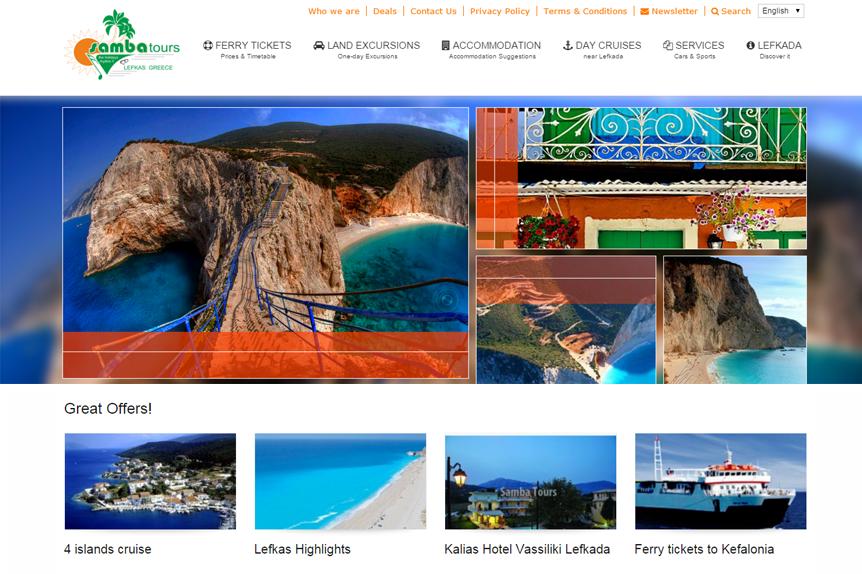 website SAMBA by VELA digital